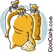 bags of grain Vector Clip Art graphic