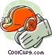hard hat Vector Clipart image
