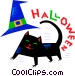 Halloween black cat Vector Clipart picture
