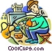 archeologists Vector Clip Art picture