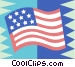 American flag Vector Clip Art image