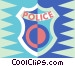 police badge Vector Clip Art graphic