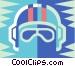 bikers helmet Vector Clipart image