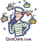 sailor smoking a pipe Vector Clip Art image