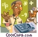 African American accountant Vector Clipart graphic