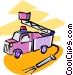 fire trucks Vector Clipart picture