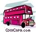 double decker bus Vector Clipart image