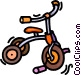 tricycle Vector Clipart graphic
