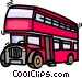 double decker buss Vector Clipart picture