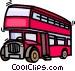 double decker buss Vector Clipart picture