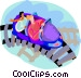 people on a roller coaster Vector Clipart graphic