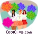cheerleaders Vector Clip Art picture