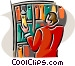librarian Vector Clipart graphic