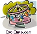 amusement park rides Vector Clipart illustration