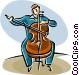 cellist Vector Clipart image