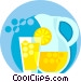 lemonade glass and pitcher Vector Clipart picture