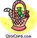 Basket filled with candies Vector Clipart graphic