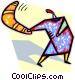 person throwing a boomerang Vector Clipart picture