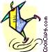 Figure skater Vector Clip Art graphic