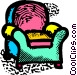 sofa chairs Vector Clip Art image