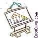 drafting table with a design Vector Clip Art image