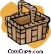 picnic basket Vector Clip Art image