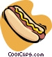 hot dog Vector Clip Art graphic