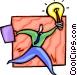 Businessman with an idea Vector Clip Art image