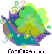 Four leaf clover Vector Clipart graphic