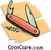 Swiss army knife Vector Clipart illustration