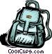 knapsack Vector Clipart illustration