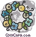 wreaths Vector Clipart graphic