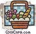 picnic baskets Vector Clipart illustration