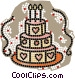 Wedding cakes Vector Clipart graphic