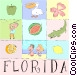 Florida postcard Vector Clip Art graphic