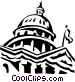 Capitol building in Washington Vector Clipart graphic
