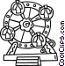 Ferris wheel Vector Clip Art image