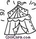 circus tent Vector Clipart illustration
