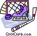 Hockey equipment Vector Clipart image