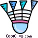 Badminton birdies Vector Clipart picture