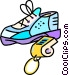 running shoes and sports Vector Clipart picture