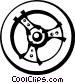 steering wheel Vector Clipart image