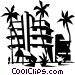 beach resort Vector Clip Art image