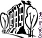 apartment buildings Vector Clip Art graphic