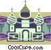 Russian church Vector Clip Art graphic