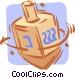 dreidels Vector Clipart picture