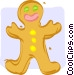 gingerbread man Vector Clip Art graphic