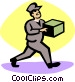 delivery man Vector Clip Art graphic