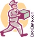 delivery man Vector Clipart image