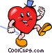 Valentines day heart Vector Clipart illustration